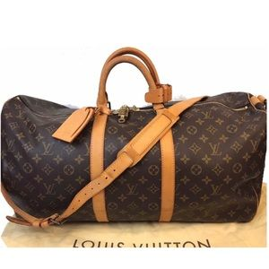 AUTHENTIC LOUIS VUITTON MONOGRAM KEEPALL 55 DUFFLE